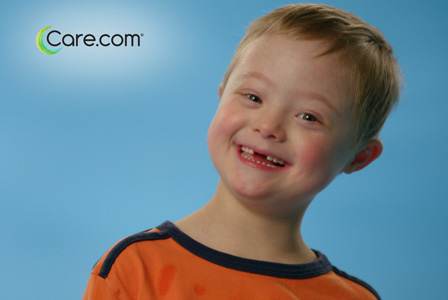 Care.com add featuring child with Down syndrome