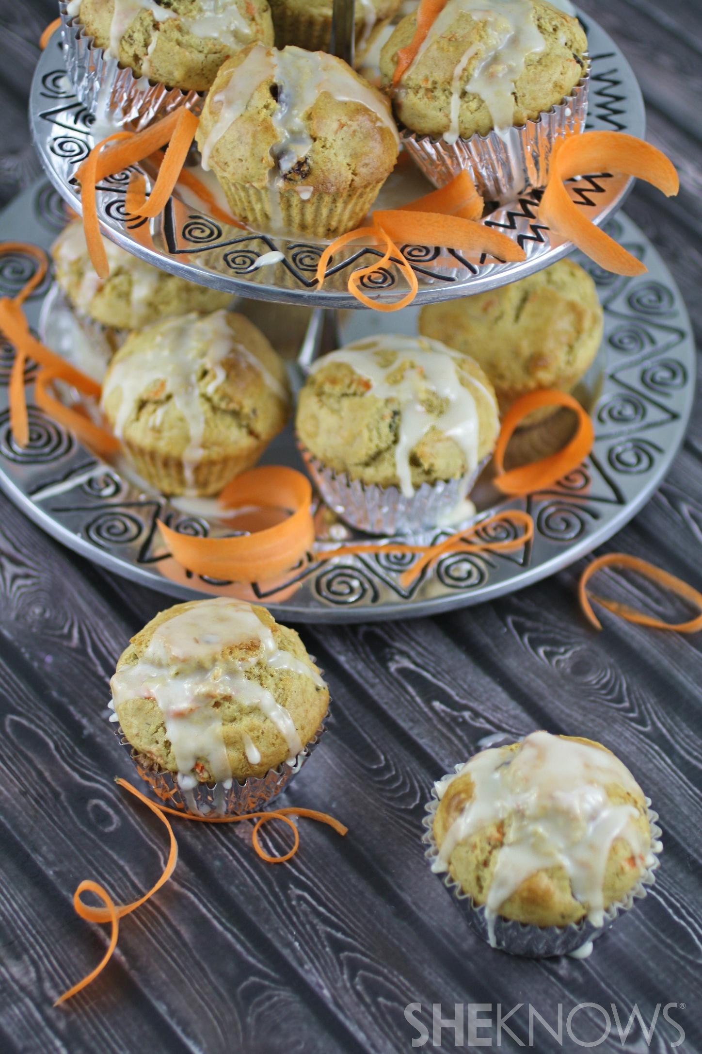 Gluten-free carrot cake muffins with lemon-ginger glaze recipe