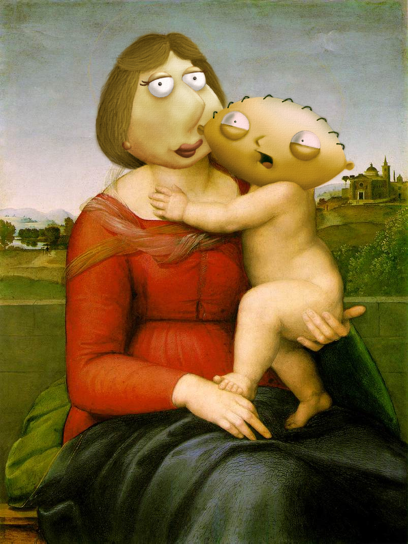 Artists recreate classic paintings with cartoons