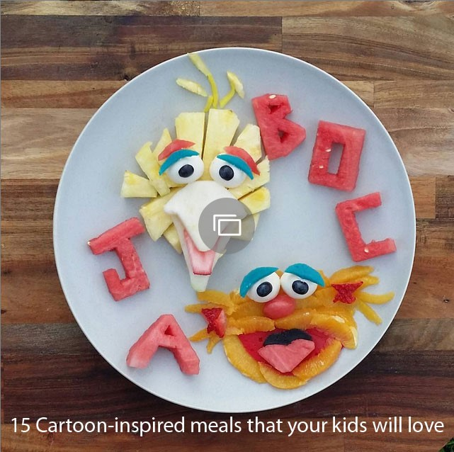 Cartoon-inspired meals slideshow
