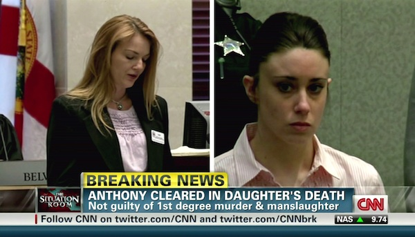 Casey Anthony acquitted of murder.