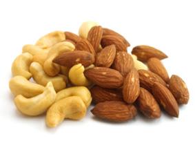 Cashews and almonds - a good fat