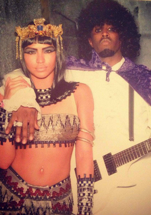 Cassie as Cleopatra and P. Diddy as Prince for Halloween 2012