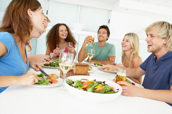 indoor summer dinner party