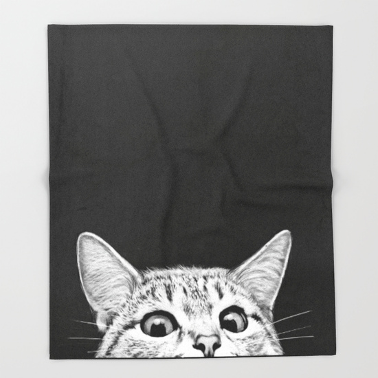Gifts for Impossible People | Cat throw blanket