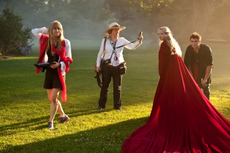 Catherine Hardwicke direcdts on set of Red Riding Hood