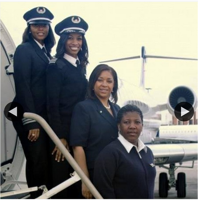 First female African American flight crew