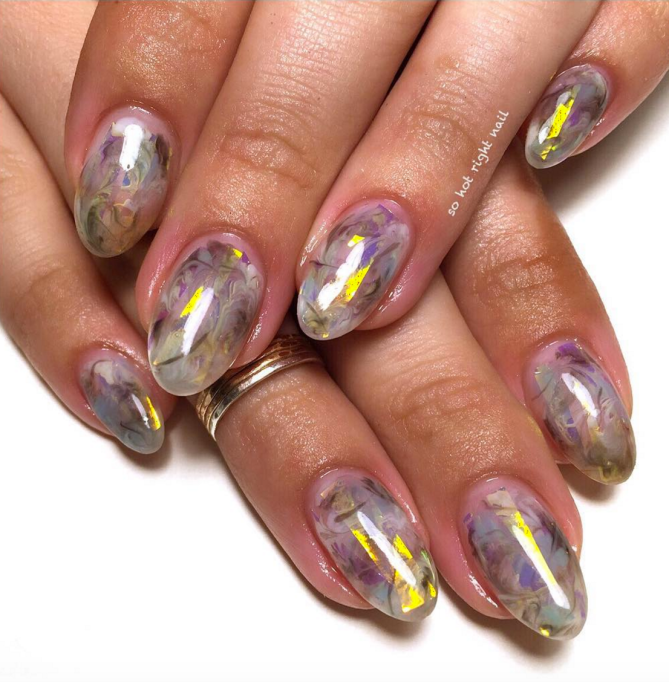Opal Nail Trend Will Turn Your Nails Into Precious Gems Sheknows