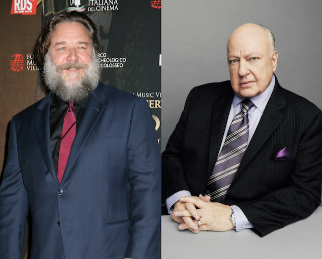 Photos of Russell Crowe and Roger Ailes