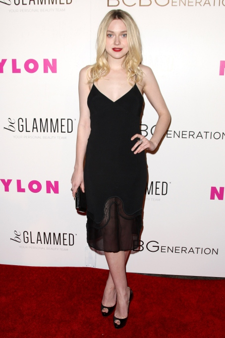 Dakota Fanning black dress