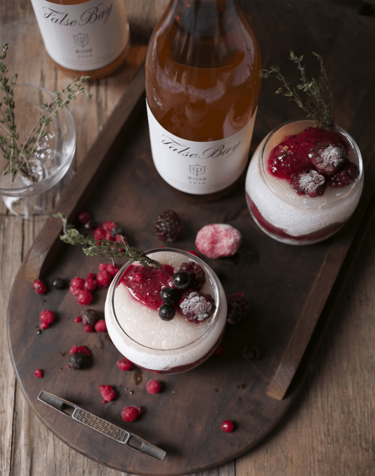 Rosé, Berry and Thyme Slush