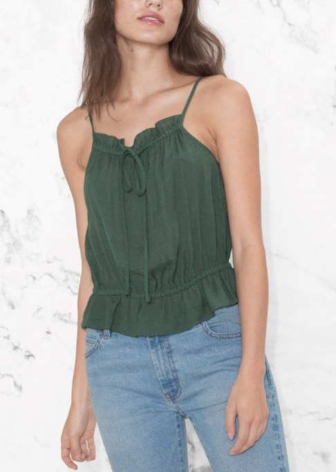 Best Lightweight Summer Tops For The Summer: & Other Stories Gathered Strap Top | Summer Fashion 2017