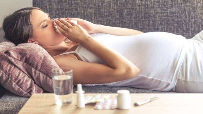 No, pregnant women getting the flu
