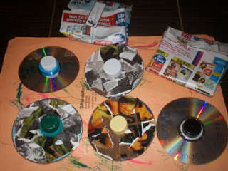 diy CD spinners