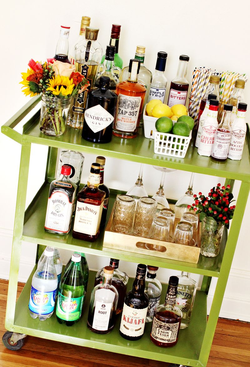 18 Diy Bar Cart Makeovers To Add Vintage Style To Your Home Sheknows