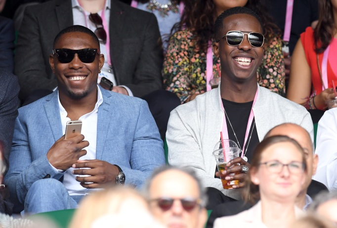 Check out these celebrities at the 2017 Wimbledon tournament: Dizzee Rascal & Jamal Edwards