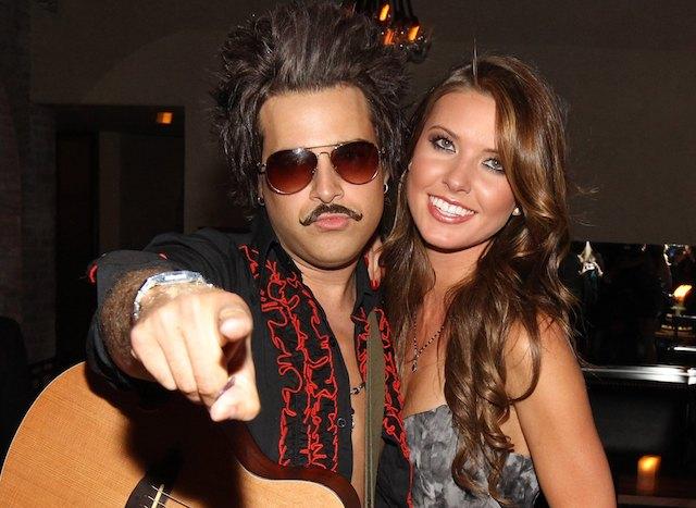 Ryan Cabrera and Audrina Patridge at her 25th birthday at Las Palmas Latin Supper Club in 2010