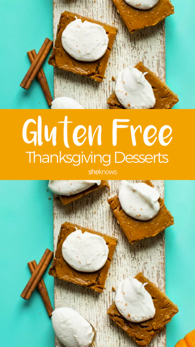 Pin it! Gluten-free Thanksgiving desserts