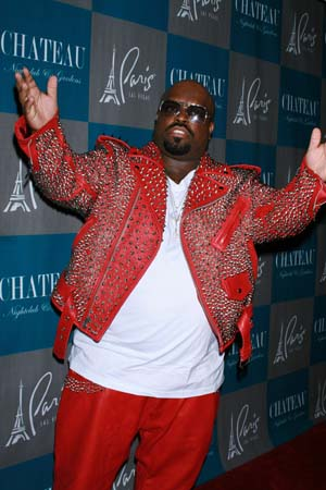 CeeLo Green in a red jacket