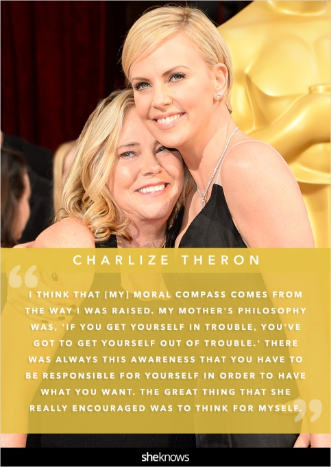 Charlize Theron and her mom