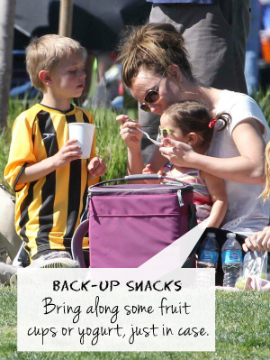 Britney Spears having a picnic