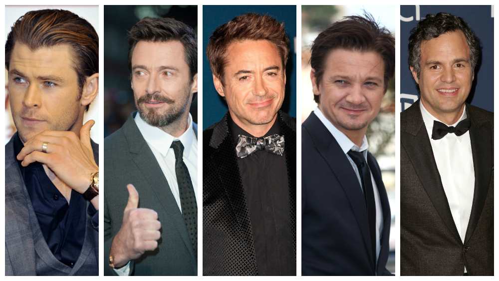 Chris Hemsworth, Mark Ruffalo, Jeremy Renner, Hugh Jackman, RDJ