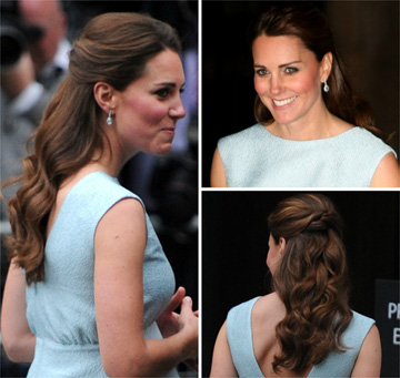 Kate Middleton's half up, half down hairstyle