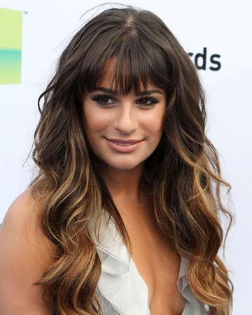 Lea Michele's wavy hair