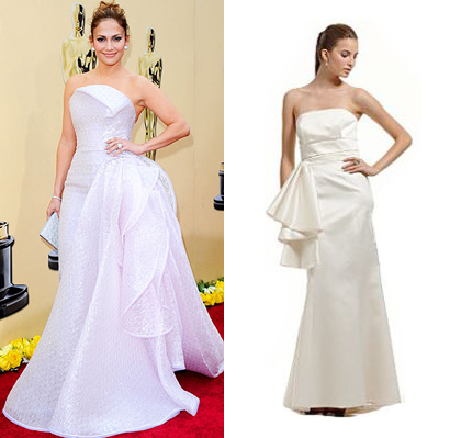 ABS Petal Satin Gown