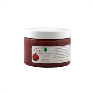 100% Pure Organic Pomegranate Body Scrub