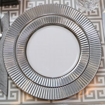 silver place settings