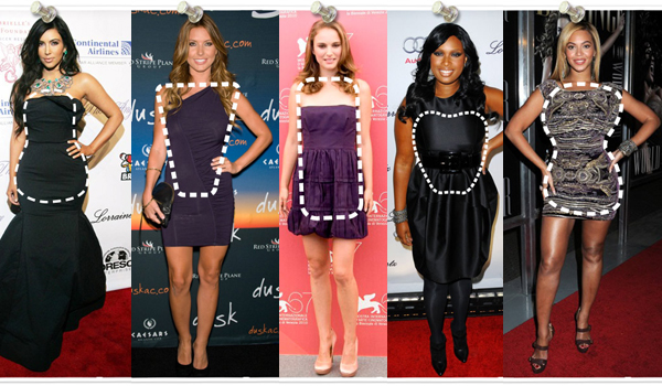 Celebrities with different body shapes