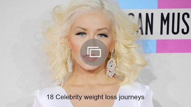 Celebrity weight loss slideshow