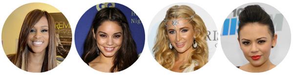 Eve, Vanessa Hudgens, Paris Hilton, Janel Parrish