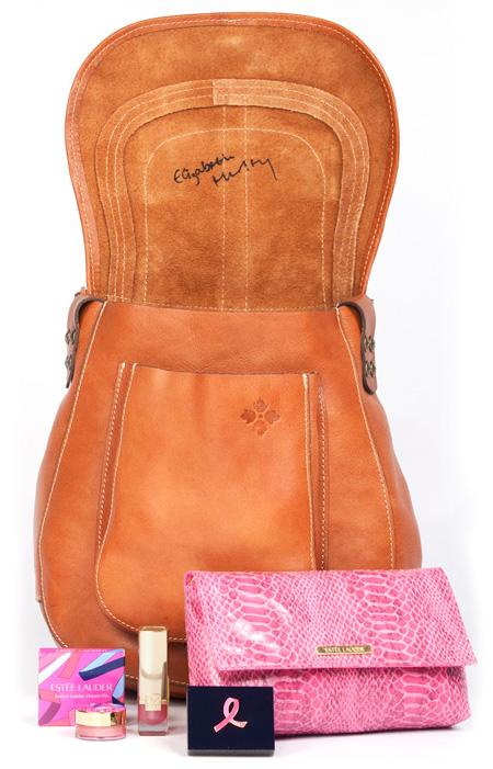 Elizabeth Hurley Breast Cancer Awareness bag for Patricia Nash