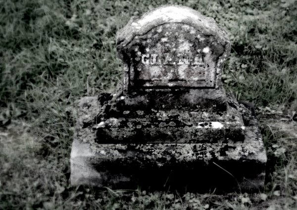 Tombstone at cemetery