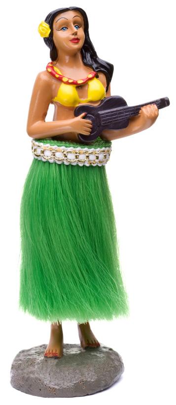 Ceramic hula girl