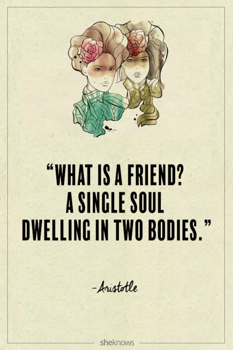 Aristotle quote about friendship