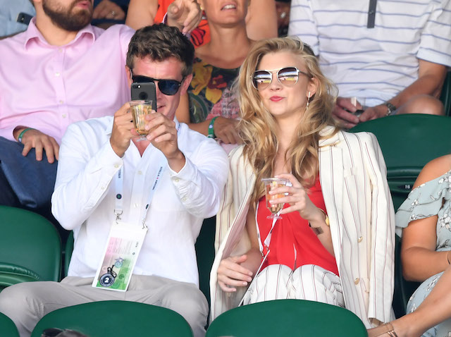 Natalie Dormer attends day one of the Wimbledon Tennis Championships