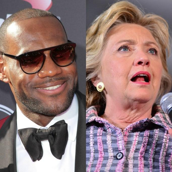 Lebron James; Hillary Clinton