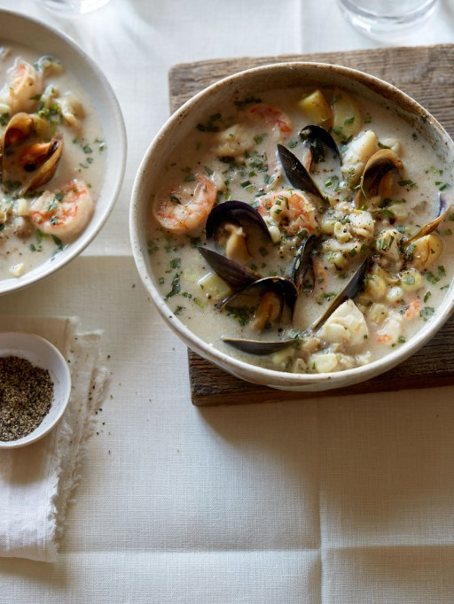 Recipes to give you vitamin D during winter | Creamy Seafood Chowder