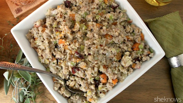 Add gluten-free quinoa stuffing to this