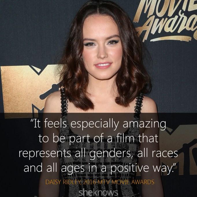 Daisy Ridley quote MTV Movie Awards