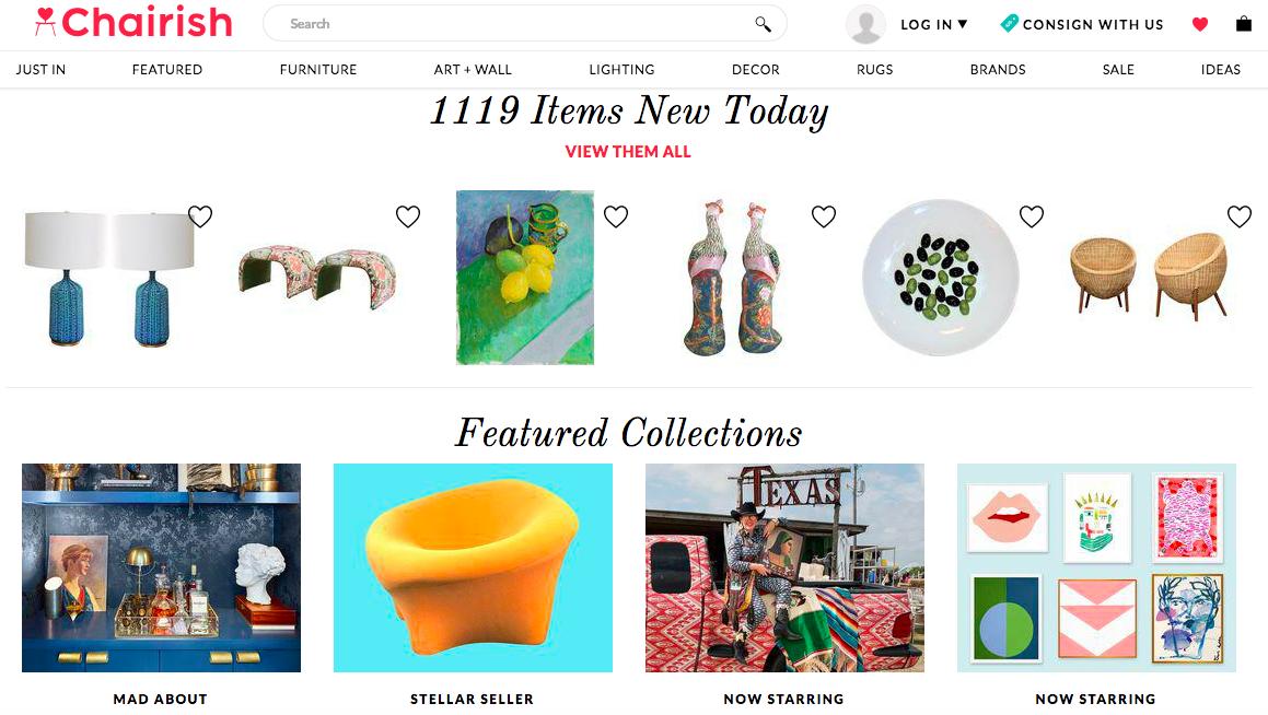 Chairish homepage screenshot