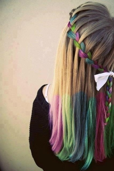 How to chalk blonde hair