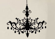 Chandelier Wall Decal - Etsy