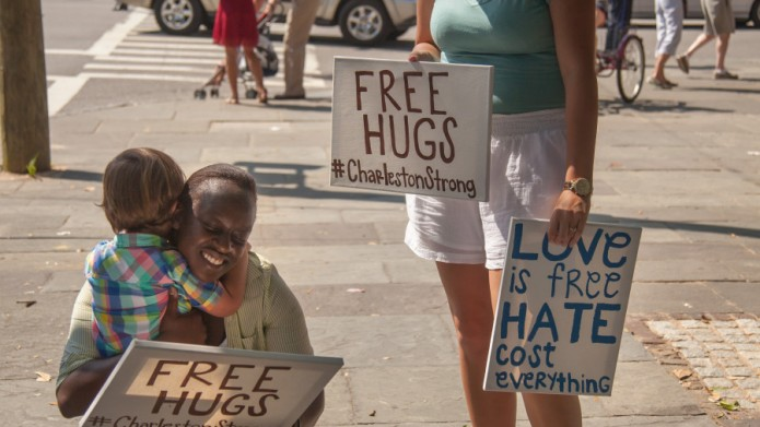 Heartfelt image shows hope in Charleston