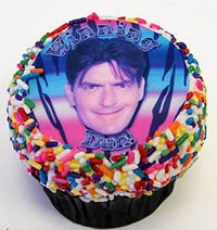 Charlie Sheen cupcake