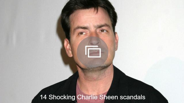 charlie sheen scandals slideshow