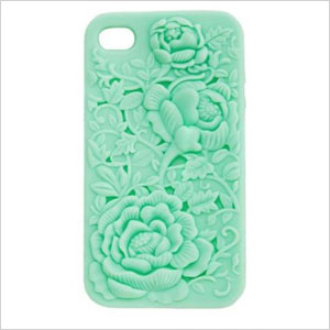 Charlotte Russe Embossed Floral iPhone Case